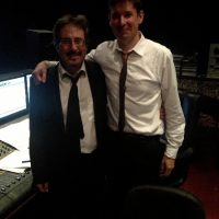 With Guitarist Jack Pantazis while recording new Big Band album