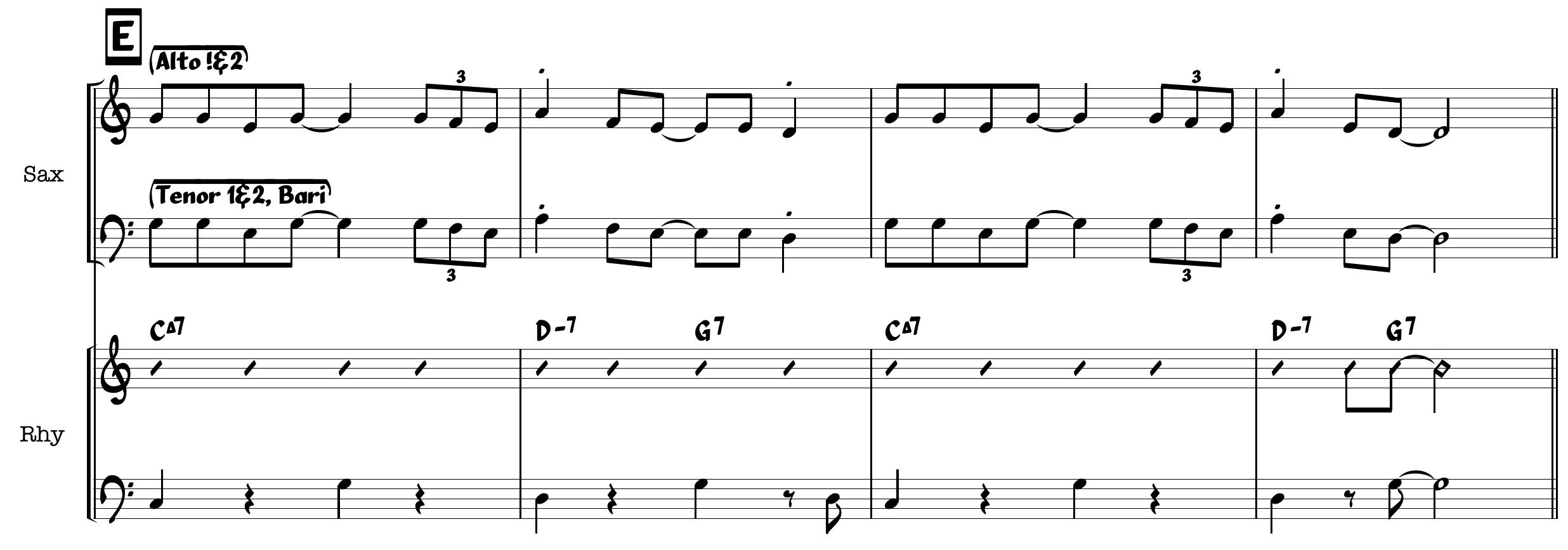 Jazz part 2 thickened line saxophone voicing e saxes v3 hexwebz Choice Image